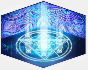 青い魔法陣の部屋
