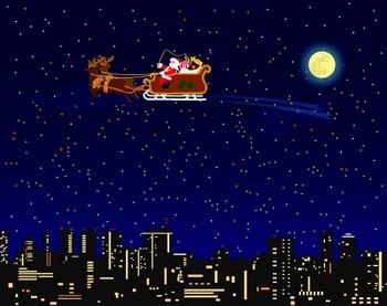 クリスマスの夜空